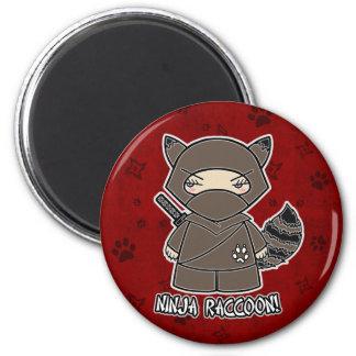 Ninja Raccoon! In Red Magnet