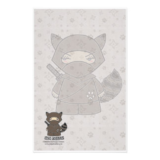 Ninja Raccoon! Stationery