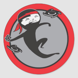 Ninja Red Belt Stickers