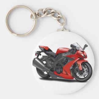 Ninja Red Bike Keychain