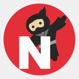 ninja round sticker
