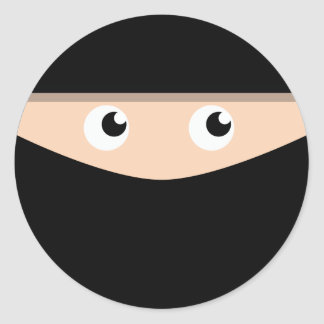 Ninja! Round Sticker