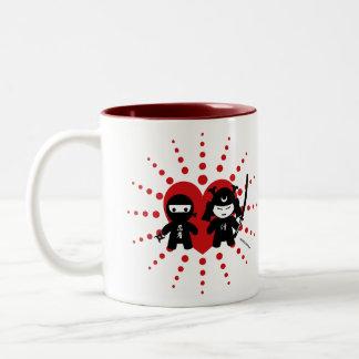 Ninja & Samurai Two-Tone Coffee Mug