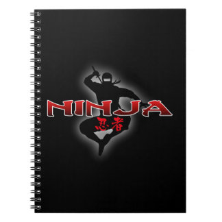 Ninja Silhouette Spiral Notebook