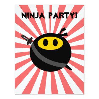 "Ninja smiley face 4.25"" x 5.5"" invitation card"