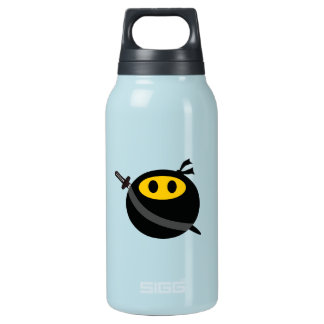 Ninja smiley face insulated water bottle