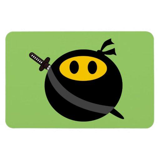 Ninja smiley face vinyl magnet