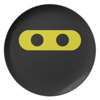 Ninja Smiley Plate