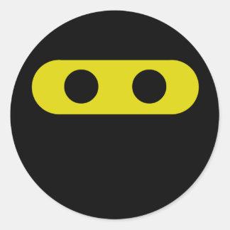 Ninja Smiley Round Sticker