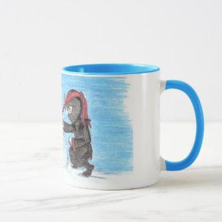 Ninja Snowman ringer Mug