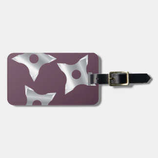 Ninja Stars Weapon vector Bag Tag