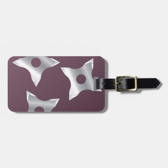 Ninja Stars Weapon vector Luggage Tag