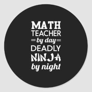 Ninja Teacher Classic Round Sticker