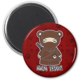 Ninja Teddy! In Red Magnet