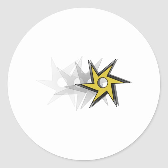 Ninja Throwing Star Classic Round Sticker