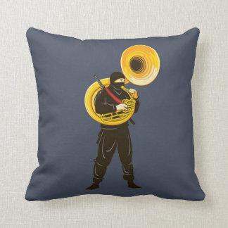 Ninja Trumpeter Throw Pillow