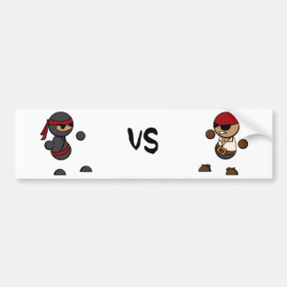 Ninja vs Pirate Bumper Sticker