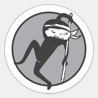 Ninja White Belt Stickers