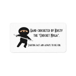 Ninja with Crochet Hook Labels