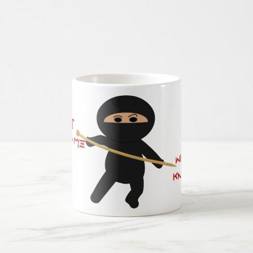 Ninja With Knitting Needle Mug