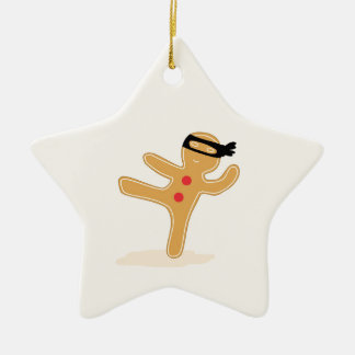 Ninjabread Man Ceramic Ornament