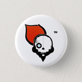NinjaCruise Skull 1 Inch Round Button