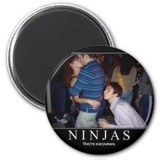 ninjas 2 inch round magnet