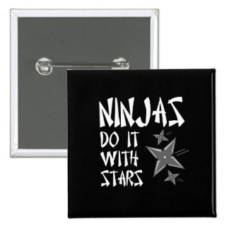 Ninjas Do It With Stars 2 Inch Square Button