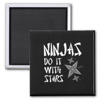 Ninjas Do It With Stars Square Magnet
