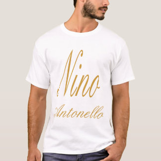 Nino Antonello Gold Fancy Writing T-Shirt