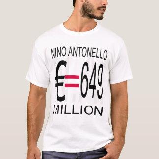 Nino Antonello N.A. (Greyscale) Euro Equals 649 Mi T-Shirt
