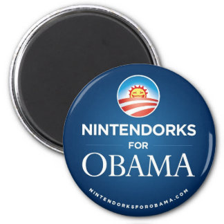 Nintendorks for Obama Button Magnet