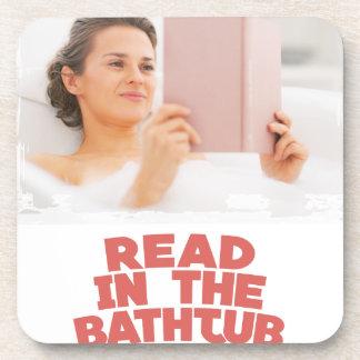 Ninth February - Read In The Bathtub Day Coaster