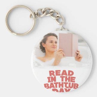 Ninth February - Read In The Bathtub Day Keychain