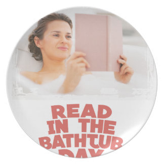 Ninth February - Read In The Bathtub Day Plate
