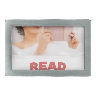 Ninth February - Read In The Bathtub Day Rectangular Belt Buckle
