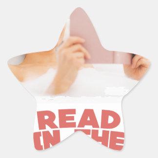 Ninth February - Read In The Bathtub Day Star Sticker