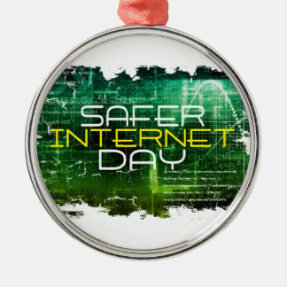 Ninth February - Safer Internet Day Metal Ornament