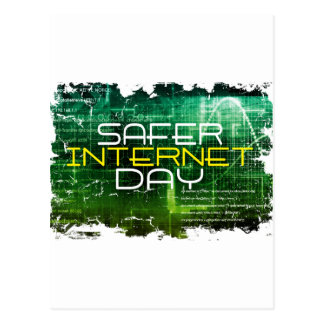 Ninth February - Safer Internet Day Postcard
