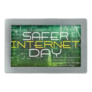 Ninth February - Safer Internet Day Rectangular Belt Buckle