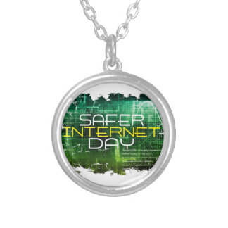 Ninth February - Safer Internet Day Silver Plated Necklace