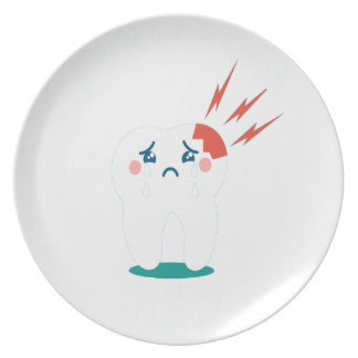 Ninth February - Toothache Day - Appreciation Day Dinner Plate