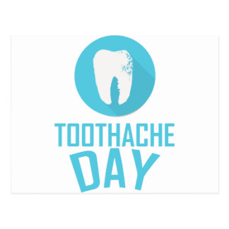 Ninth February - Toothache Day - Appreciation Day Postcard