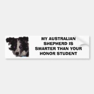 Niobe CO, MY AUSTRALIAN SHEPHERD IS SMARTER THA... Bumper Sticker