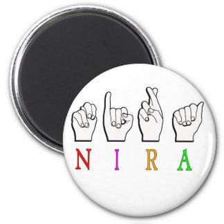 NIRA FINGERSPELLED ASL NAME SIGN MAGNET