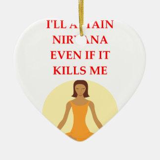 NIRVANA CERAMIC HEART ORNAMENT