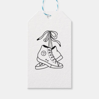 NIRVANA CONVERSE, CONVERSE, SNEAKERS, CUTE DESIGN GIFT TAGS