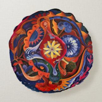 Nirvana Indie Abstract Art Mandala Round Pillow