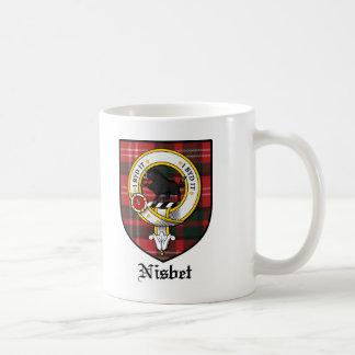 Nisbet Clan Crest Badge Tartan Coffee Mug