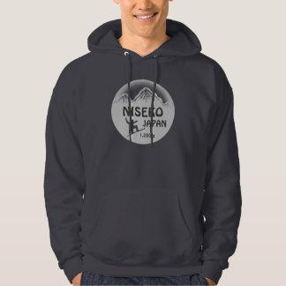 Niseko Japan gray snowboard art guys hoodie